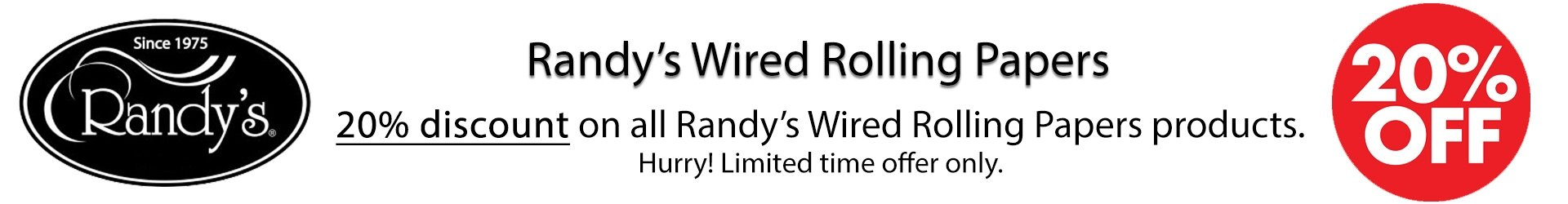 Randys Wired Rolling Papers