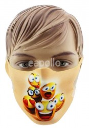 Wholesale Reusable Stretchable Face Covering Mask - Emojis