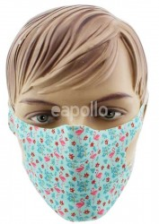 Wholesale Reusable Stretchable Face Covering Mask - Flamingo