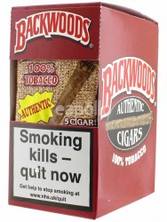 Backwoods Cigars 100% Tobacco - Red (5 Cigars)