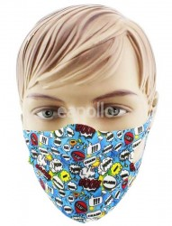 Wholesale Reusable Stretchable Face Covering Mask - Multiple Words
