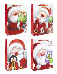 Wholesale Extra Large Christmas Santa Gift Bags - Assorted