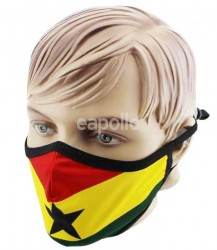 Adults Ghana Print Reusable Face Covering Mask