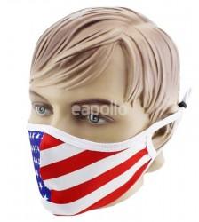 Adults USA Flag Print Reusable Mask