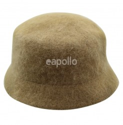 Ladies Angora Wool Bucket Hat - Beige