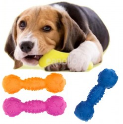Squeaking Dumbbell 17.5cm - Assorted Colours