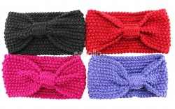 Wholesale Knitted Wool Headbands 10cm Wide-Assorted Colours