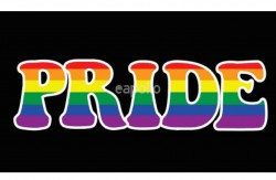 Rainbow Pride With Black Background Flag - 5ft x 3ft