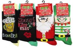 Wholesale Men's Christmas Socks Assorted Designs(UK 6-11)