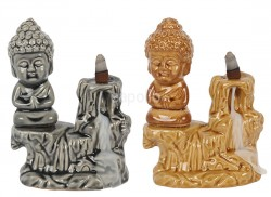 Wholesale Sitting Buddha Backflow Burner - 17cm