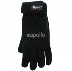 Mens Knitted 3M Thinsulate Insulation Gloves - Black