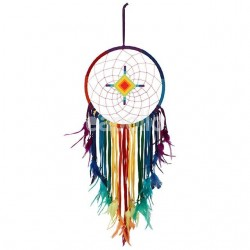Multicoloured Dreamcatcher With Diamond Centre - 100cm