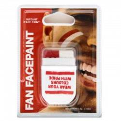FANBRUSH Face Paint - RED WHITE (England)