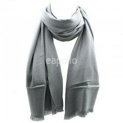 Ladies' Pashmina Scarves With tassels  - Light Grey
