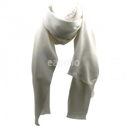 Ladies' Pashmina Scarves With tassels  - White