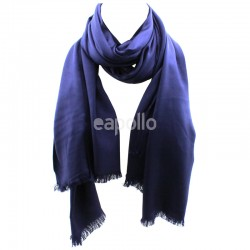 Ladies' Pashmina Scarves With tassels  - Dark Blue