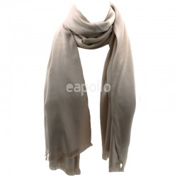 Ladies' Pashmina Scarves With tassels  - Cream