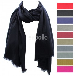 Ladies' Pashmina Scarves With tassels  - Assorted Colours