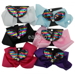 Fashion Bows With Sequins 15cm - Assorted Colours