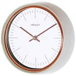 Henley Metal Wall Clock - Green/Rose Gold - 25cm
