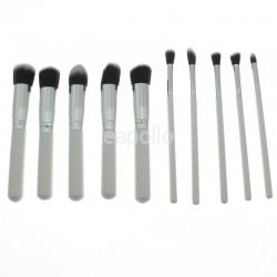 Lilyz 8 Piece Make Up Brush Set - White