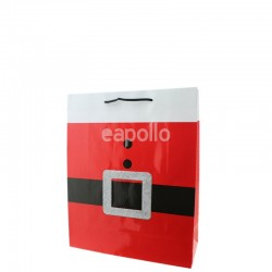 Santa Claus Belt Design Gift Bag - Small (12cm x 15cm x 6cm)