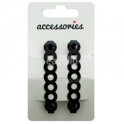 Circle Design Barrette Clip - Black