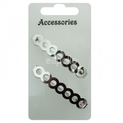 Circle Design Barrette Clip - Silver