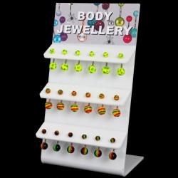 Acrylic Belly Bars (Rasta Designs) - 10mm