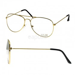 Aviator Glasses - Clear Lens (Gold Frame)