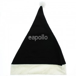 Black Christmas Santa Hat