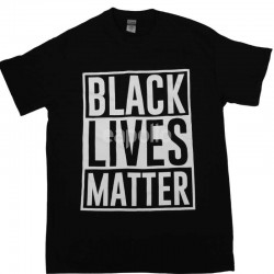 "Black ""Black Lives Matter"" Printed T-shirt"