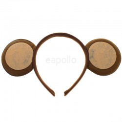 Brown Monkey ears on a Aliceband