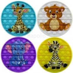 Wholesale Push & Pop Bubble Fidget Cartoon Toys - Assorted Colours