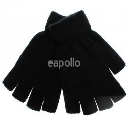 Mens Thermal Magic Fingerless Gloves - Black
