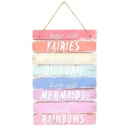 """Dance with Fairies"" Hanging Sign"