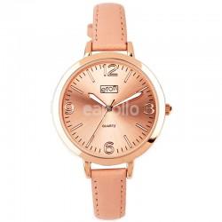 Wholesale Eton Ladies Faux Strap Watch - Blush/Rose Gold