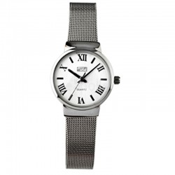 Wholesale Eton Ladies Mesh Bracelet Watch - Chrome