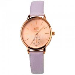 Wholesale Eton Ladies Semi Dial Faux Strap Watch - Grey