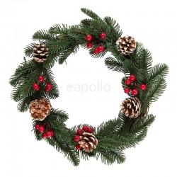 Wholesale Faux Pine & Berry Wreath-35cm