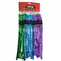 Glitter Lanyard Keyrings - Assorted Colours