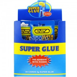Wholesale GSD Super Strength Power Glue Multipurpose Tubes - Full Box (3g)