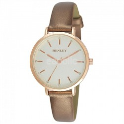 Wholesale Henley Ladies Metallic Strap Watch - Gold