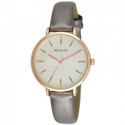 Wholesale Henley Ladies Metallic Strap Watch - Grey