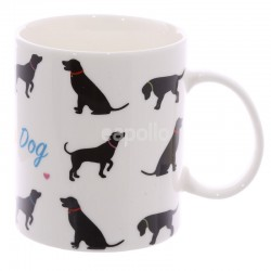 I Love My Dog Bone China Mug