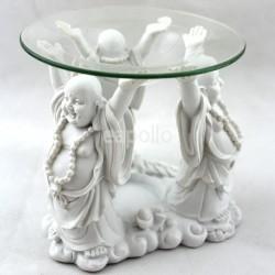 Wholesale White Laughing Buddha Oil Burner - 11cm