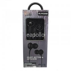 Wholesale Elmcoei Stereo Earphones EV136 - Black