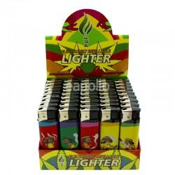 Wholesale PUF Electronic Refillable Lighters - Rastaman