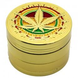 Wholesale 4-Part Metal Grinder Cannabis - Gold