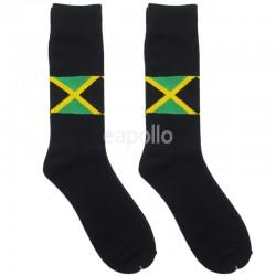 Jamaica Flag Work Socks - Black